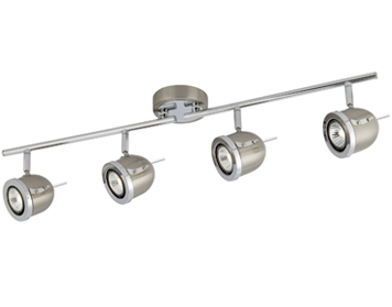 Searchlight Palmer 4 Light Track Spotlight, Satin Silver Finish - 4924SS