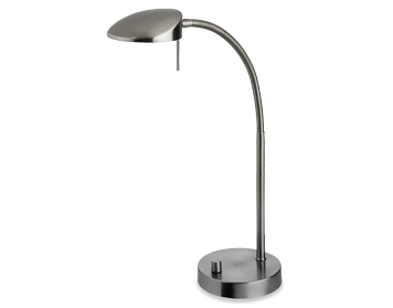 Firstlight Milan LED Dimmable Table Lamp, Brushed Steel Finish - 4926BS
