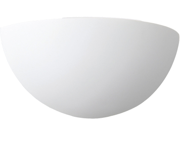 Firstlight Bowl 1 Light Plaster Wall Light, White - 4928