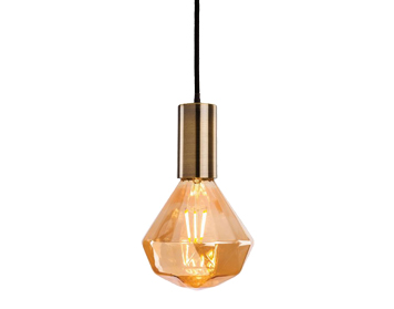 Firstlight Hudson Ceiling Pendant Light, Antique Brass Finish With Decorative Amber Glass - 4934