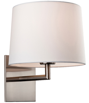 Firstlight Grand Single Wall Light, Brushed Steel With Cream Shade - 4935BS
