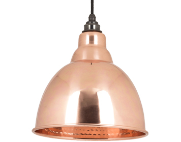 From The Anvil Brindley Ceiling Pendant, Hammered Copper - 49500