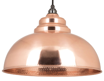 From The Anvil Harborne Ceiling Pendant, Hammered Copper - 49501