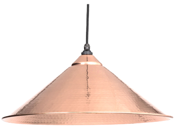 From The Anvil Yardley Ceiling Pendant, Hammered Copper - 49502