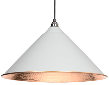 From The Anvil Hockley Ceiling Pendant, Light Grey With Hammered Copper - 49503LG