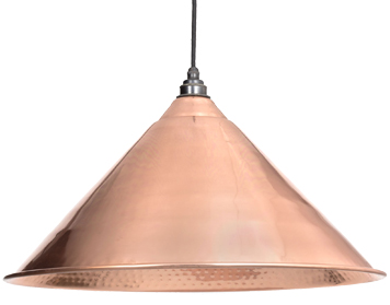 From The Anvil Hockley Ceiling Pendant, Hammered Copper - 49503