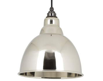 From The Anvil Brindley Ceiling Pendant, Smooth Nickel - 49504