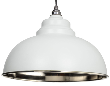 From The Anvil Harborne Ceiling Pendant, Light Grey With Smooth Nickel - 49505LG