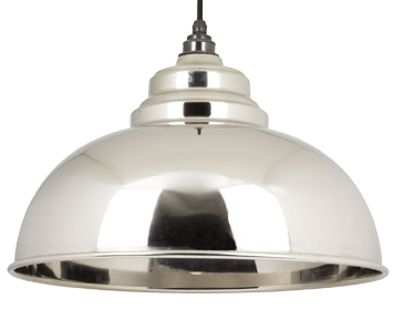 From The Anvil Harborne Ceiling Pendant, Smooth Nickel - 49505