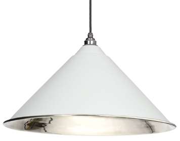 From The Anvil Hockley Ceiling Pendant, Light Grey With Smooth Nickel - 49506LG