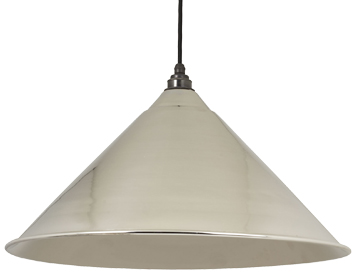 From The Anvil Hockley Ceiling Pendant, Smooth Nickel - 49506