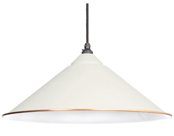 From The Anvil Yardley Ceiling Pendant, Oatmeal With White Gloss Interior - 49509M