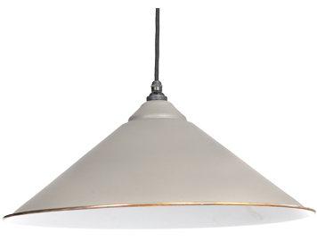 From The Anvil Yardley Ceiling Pendant, Warm Grey With White Gloss Interior - 49509WG