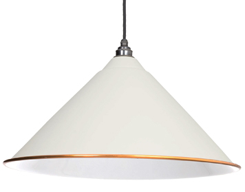 From The Anvil Hockley Ceiling Pendant, Oatmeal With White Gloss Interior - 49510M