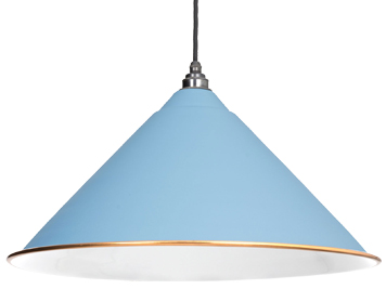 From The Anvil Hockley Ceiling Pendant, Pale Blue With White Gloss Interior - 49510PB