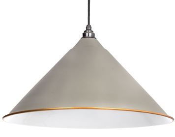 From The Anvil Hockley Ceiling Pendant, Warm Grey With White Gloss Interior - 49510WG