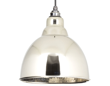 From The Anvil Brindley Ceiling Pendant, Hammered Nickel - 49511