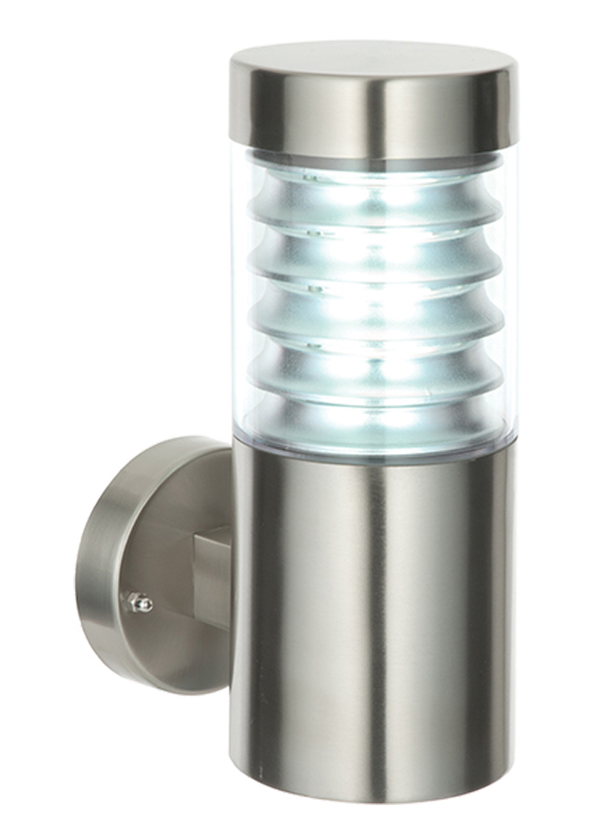Endon 39 Equinox 39 Ip44 Led 1 Light Outdoor Wall Light Marine Grade Brushed Stainless Steel