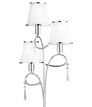 Multi light floor lamps from easy lighting searchlight simplicity chrome floor lamp fabric shades 5033cc mozeypictures Gallery