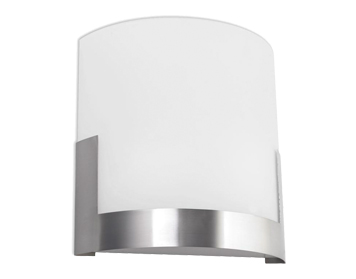 Leds C4 Niza 2 Light Wall Light, Satin Nickel/Glass Finish - 505-NS