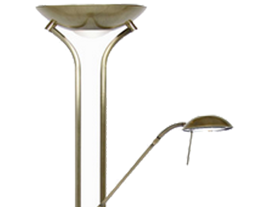 Oaks Lighting Mother & Child Floor Lamp, Antique Brass - 5055 FL AB