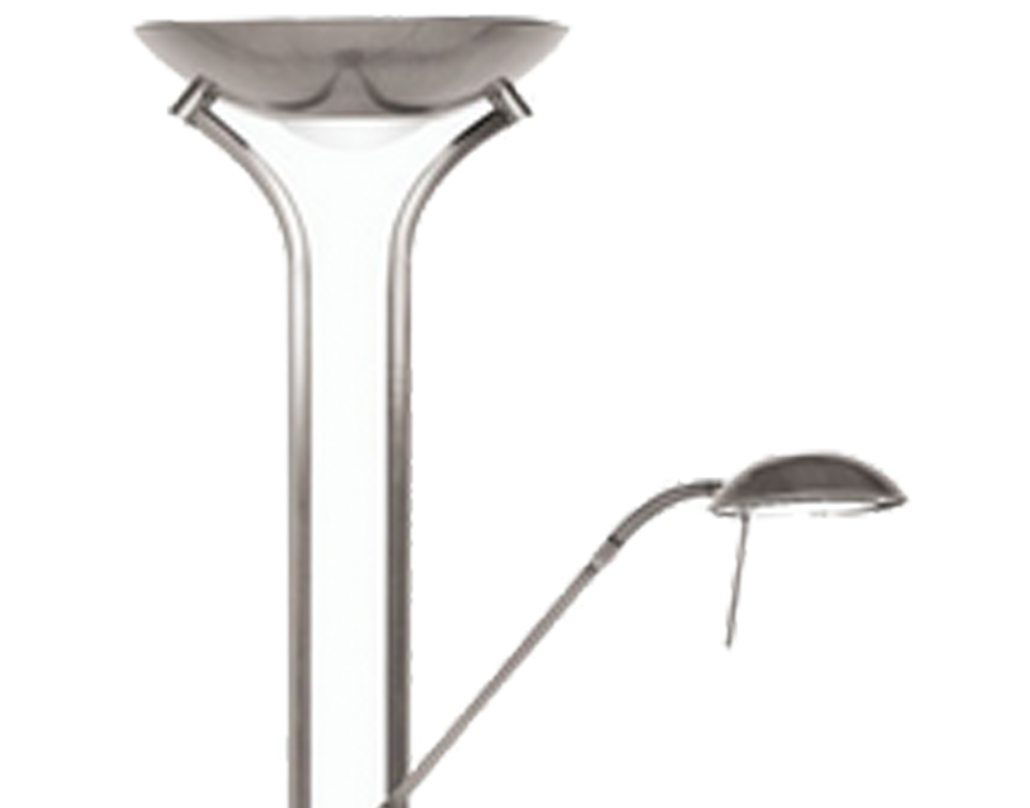 Oaks Lighting Mother & Child Floor Lamp, Antique Chrome Finish - 5055 FL AC