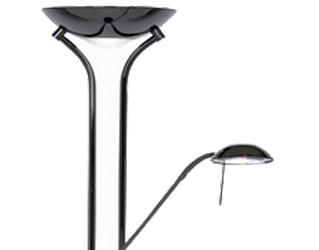 Oaks Lighting Mother & Child Floor Lamp, Black Chrome Finish - 5055 FL BC