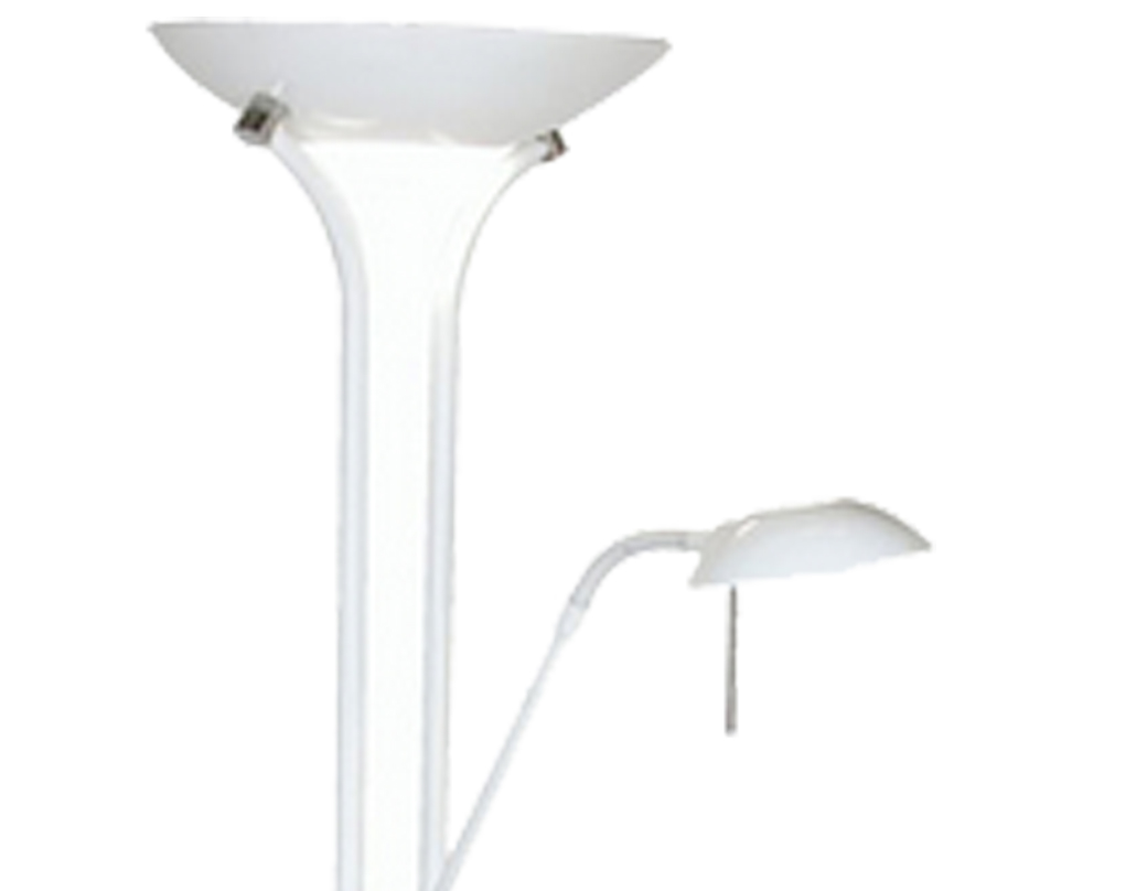 Oaks Lighting Mother & Child Floor Lamp, White Finish - 5055 FL WH
