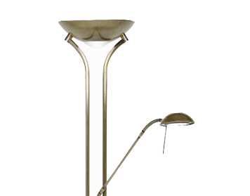 Oaks Lighting Mother & Child Floor Lamp, Antique Brass Finish - 5075 FL AB
