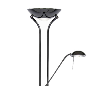 Oaks Lighting Mother & Child Floor Lamp, Black Chrome Finish - 5075 FL BC