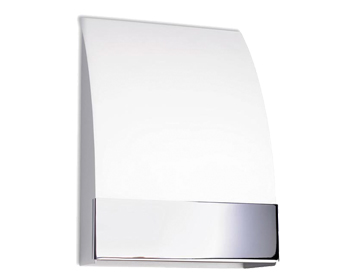 Leds C4 Niza 2 Light Wall Light, Chrome/Glass Finish - 506-CR