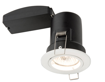 Endon ShieldPLUS MV 50W Recessed Fixed Downlight, Matt White Paint Finish- 61059