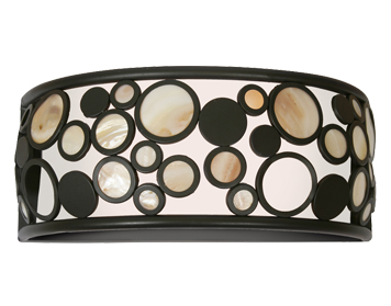 Oaks Lighting Kati Wall Light, Black Finish - 5072 WB