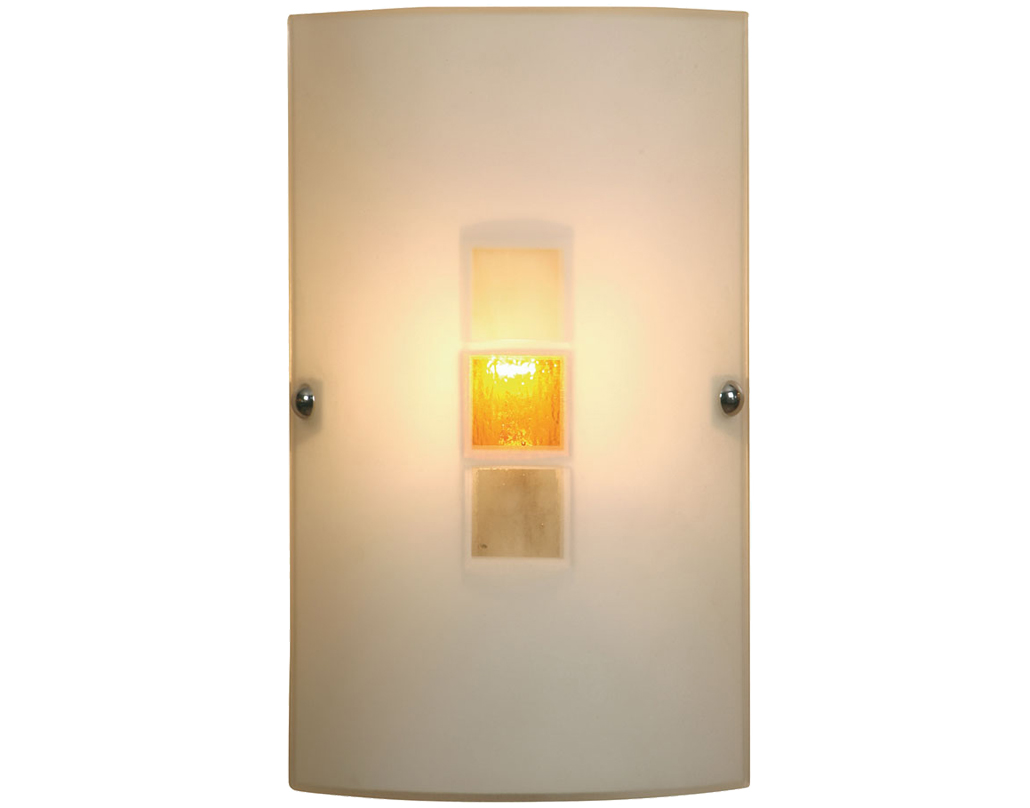 Oaks Lighting Muro Wall Light, Amber Finish - 509 AM