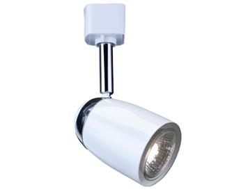 Searchlight 1 Light Track Spotlight, White Finish - 5109WH