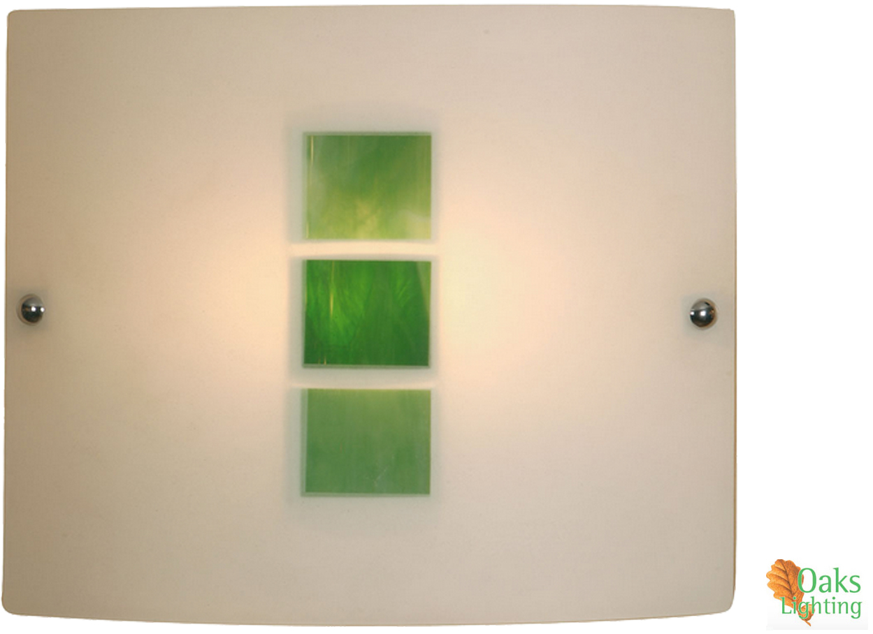 Lights For Green Wall : Oaks Lighting Muro Wall Light, Green - 511 GR from Easy Lighting