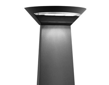 Searchlight 3558-600gy Grey LED Single Outdoor Post Light//Frosted Diffuser