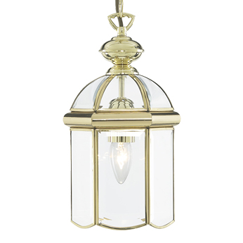 Searchlight Hall Ceiling Lantern, Polished Brass Finish - 5131PB