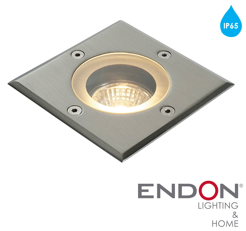 Endon 39 Pillar 39 IP65 Square 50w Recessed Outdoor Light Marine Grade B