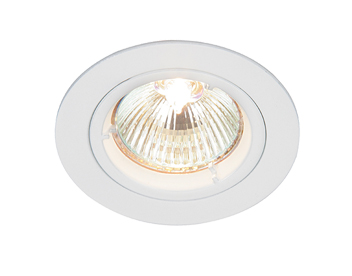 Endon Cast Fixed 50W Recessed Ceiling Downlight, Gloss White Paint Finish - 52331