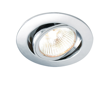 Endon Cast Tilt 50W Recessed Ceiling Downlight, Chrome Plate Finish - 52332