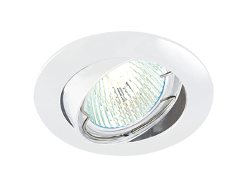 Endon Classic Tilt 50W Recessed Ceiling Downlight, Gloss White Paint Finish - 52340