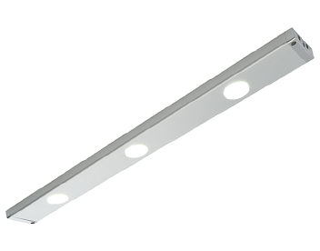 Endon Picard Kit 3.5W Cool White Under Cabinet LED Light, Silver Anodised & Frosted Polypropylene - 52657