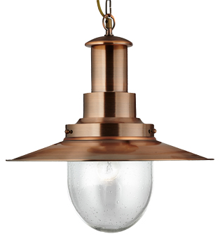 Searchlight Fisherman Switched Wall Light, Copper - 5331-1CO from Easy Lighting