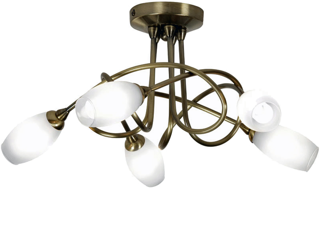 4 and 5 light semi flush ceiling lights from easy lighting oaks lighting tara 5 light ceiling light antique brass 53275 mozeypictures Gallery