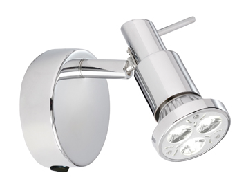 Searchlight Torch 1 Light Spotlight, Chrome Finish - 5341CC