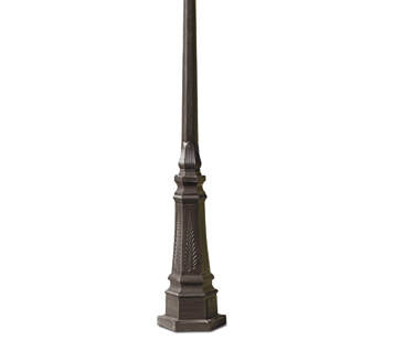 Leds C4 Galatea Decorative Outdoor Lamp Post *Column Only*, Rusty Brown Finish - 55-9151-18-18