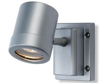 Firstlight Aero Single Light Wall Light, Aluminium Finish - 5501AL