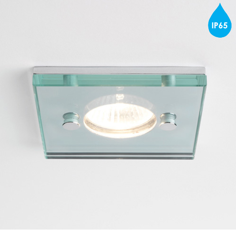 ip65 bathroom lights astro square ip65 230v bathroom downlight polished 13275