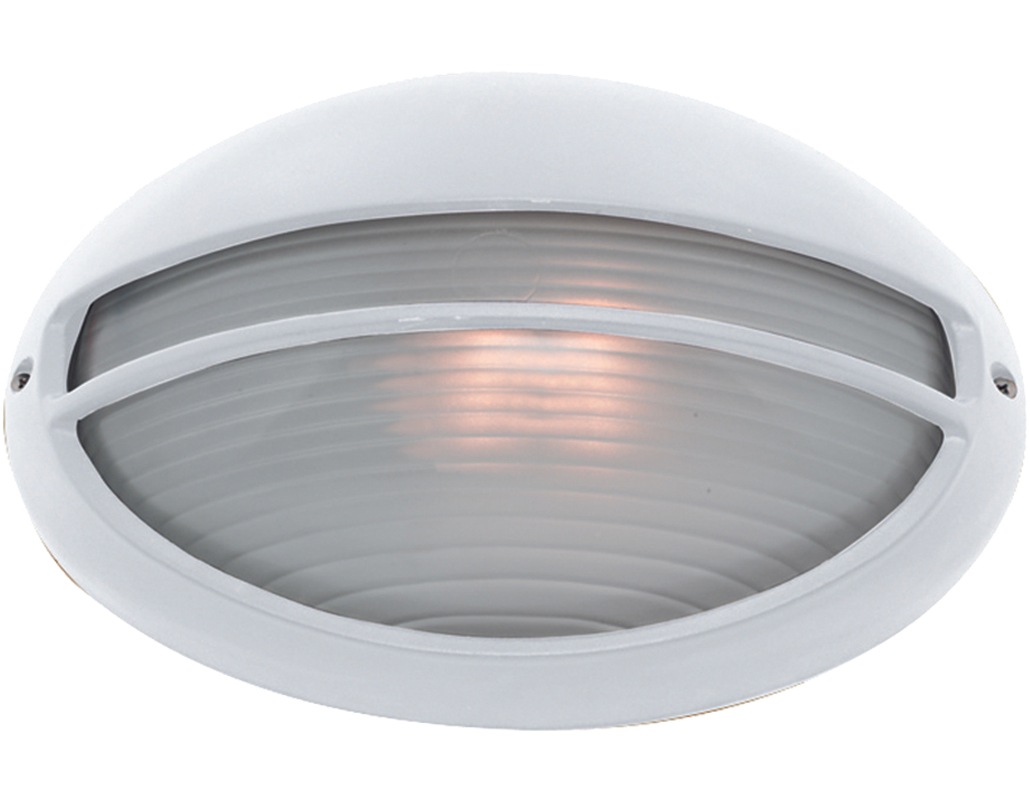 White outdoor wall lights from easy lighting searchlight ip44 oval outdoor wall light white 5544wh aloadofball Gallery